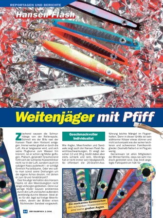 Weitenjäger mit Pfiff Hansen Flash - Raubfisch