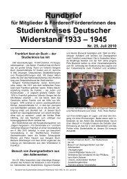 Rundbrief Nr. 25 (Juli 2010) - Studienkreis Deutscher Widerstand ...