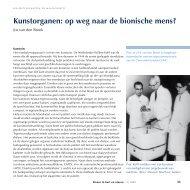 Kunstorganen: op weg naar de bionische mens? - Nederlandse ...