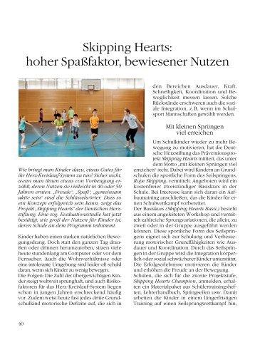 Skipping Hearts: hoher Spaßfaktor, bewiesener ... - Kinderherzstiftung