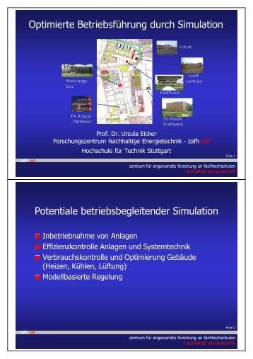 Betriebsführung mittels Gebäude- und ... - HFT Stuttgart