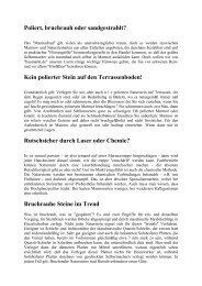 Allgemeine Informationen zu Naturstein - Special-Order.at