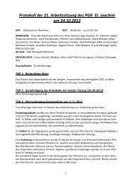 Protokoll der 21. Sitzung - St. Joachim