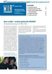 Quo vadis – wohin gehst Du GVSA?