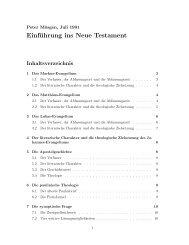 Einführung ins Neue Testament - Moesgen.de