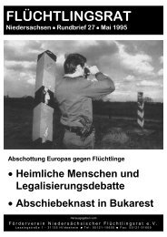Rundbrief Nr. 27 - Flüchtlingsrat Niedersachsen