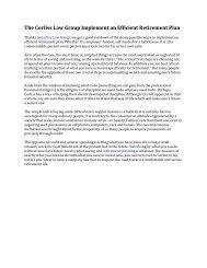 The Corliss Law Group Implement an Efficient Retirement Plan