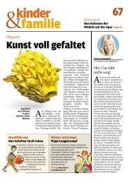 Coop Zeitung – Kunst voll gefaltet - Mabona Origami