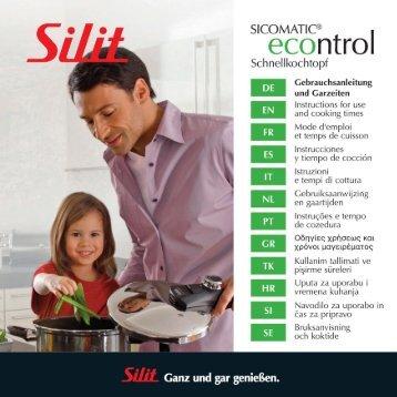 [PDF] Gebrauchsanleitung Sicomatic® econtrol - Silit