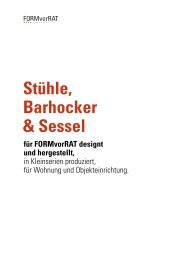 9 Stühle, Barhocker & Sessel SLIM MARGOT ... - FORMvorRAT
