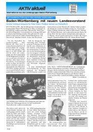 Baden-Württemberg mit neuem Landesvorstand