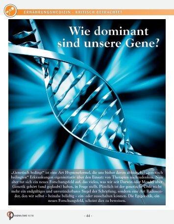 Wie dominant sind unsere Gene? - Cogito Gesundheitsverlag