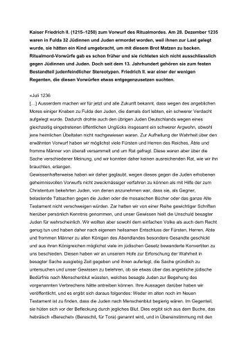 zum Vorwurf des Ritualmordes - Lehrmittelverlag Zürich