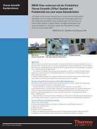 INEOS Films verbessert mit der Produktlinie Thermo Scientific ...