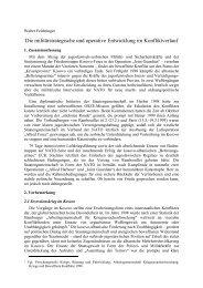 Die militärstrategische und operative Entwicklung im Konfliktverlauf