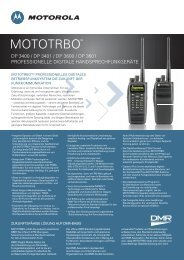 DP 3601 Spec Sheet - Motorola Solutions