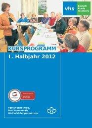 I. Halbjahr 2012 KuRspRogRamm - VHS Bocholt-Rhede-Isselburg ...