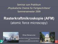AFM-Komponenten - Max-Planck-Institut für Polymerforschung