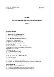 Entwurf Landessatzung>>>pdf - PDS Sachsen-Anhalt