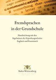 Fremdsprachen Grundschule - Ministerium für Kultus, Jugend und ...