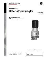 309475d , Materialdruckregler - Graco Inc.