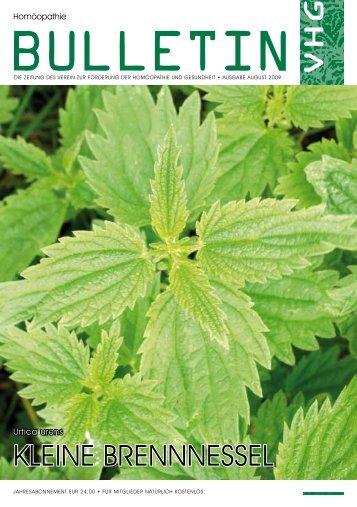 kleine brennnessel - Verein zur Förderung der Homöopathie und ...