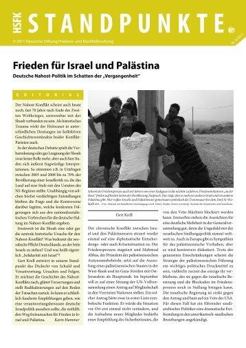 Frieden für Israel und Palästina