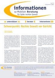 informationen Nr. 22 / Frühsommer 2008 - Mobile Beratung für Opfer ...