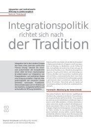 Integrationspolitik - terra cognita