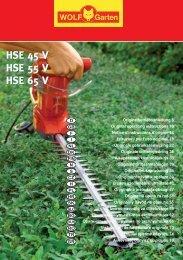 HSE 45 V HSE 55 V HSE 65 V HSE 45 V HSE 55 ... - WOLF-Garten NL