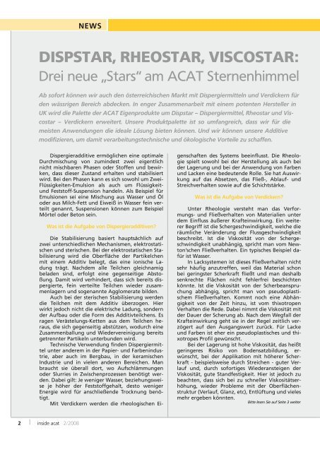SUSTAINABILITY - Applied Chemicals International ACAT