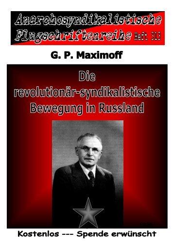 Die revolutionär-syndikalistische Bewegung in Rußland