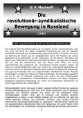 Die revolutionär-syndikalistische Bewegung in Rußland - Seite 2