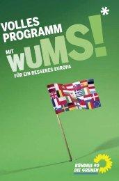 Europawahlprogramm 2009 - Bündnis 90/Die Grünen Hessen