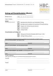 Antrag auf Exmatrikulation MASTERstudiengänge - Hochschule ...