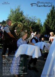 Pfarrbrief September 2012 - Gemeinde Schlierbach