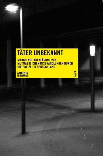 TÄTER UNBEKANNT - Amnesty International Österreich