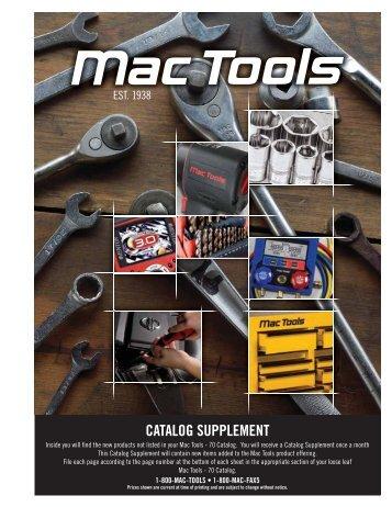 CATALOG SUPPLEMENT - Mac Tools Virtual Customer Service ...