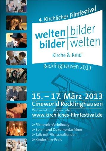 Programmheft 2013 - Kirchliches Filmfestival Recklinghausen