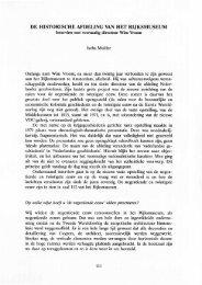 DE HISTORISCHE AFDELING VAN HET RIJKSMUSEUM - Groniek