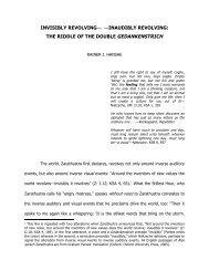 INVISIBLY REVOLVING— —INAUDIBLY ... - Nietzsche Circle