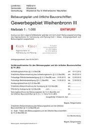 Bebauungsplan - Textteil (115 KB) - Koch + Käser