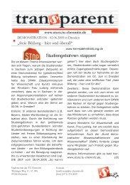 Transparent Mai 2005 - StuRa