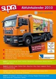 Abfuhrkalender 2010 - Stadt Salzburg