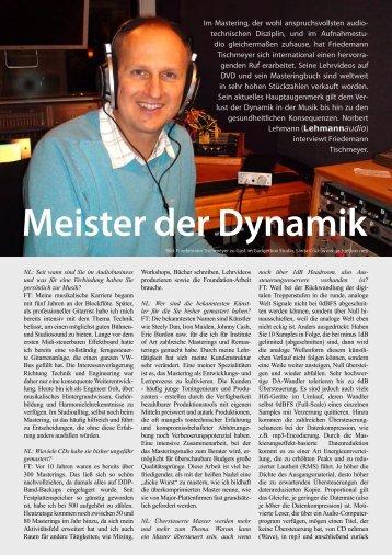 Meister der Dynamik - Lehmannaudio