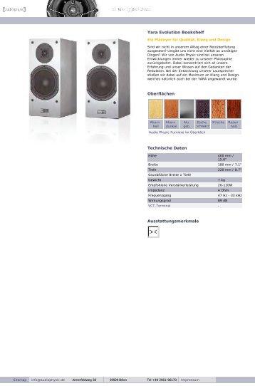 web Yara family german/english - Audio Physic