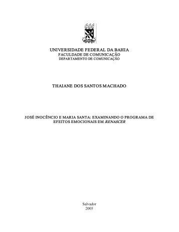 universidade federal da bahia thaiane dos santos machado - Facom ...