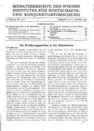 monatsberichte des wiener institutes für wirtschafts - Wifo