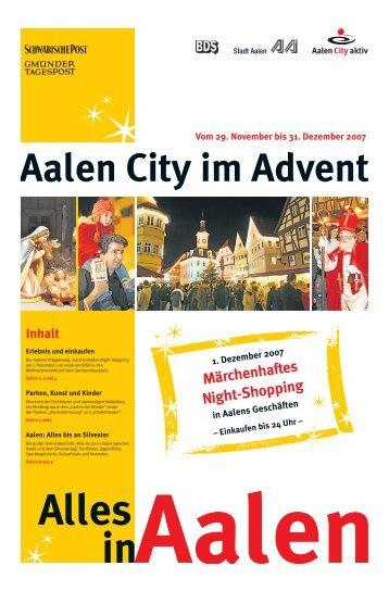Aalen City im Advent - Schwäbische Post