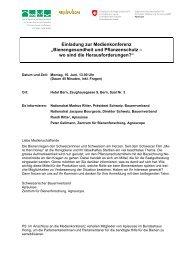 Einladung mit Anmeldetalon - Schweizerischer Bauernverband